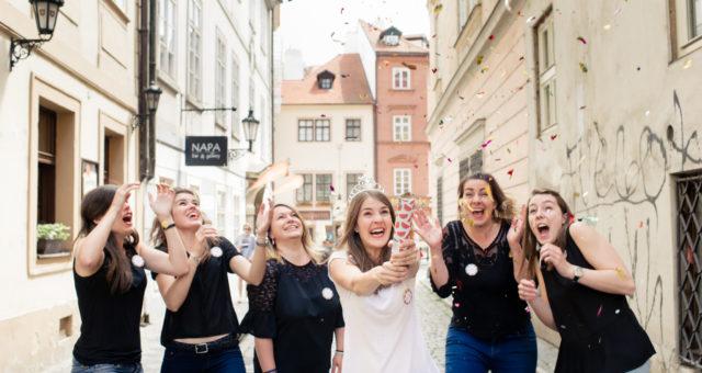 Bachelorette photo shoot in Prague